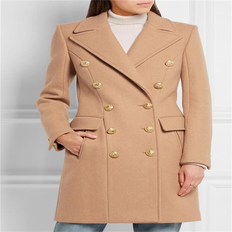 Winter long women's cashmere coat fashion jacket jacket double breasted lapel slim wool female long coat mens winter down jackets coats piumino peuterey wool collar double breasted jacket lapel pocket vertical multi pocket jacket