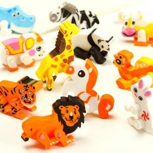 2 Pcs / Lot Children Safe Non-toxic Stationery Items Creative Cute Imitation Zoo Eraser Lion Giraffe White Rabbit Zebra Eraser