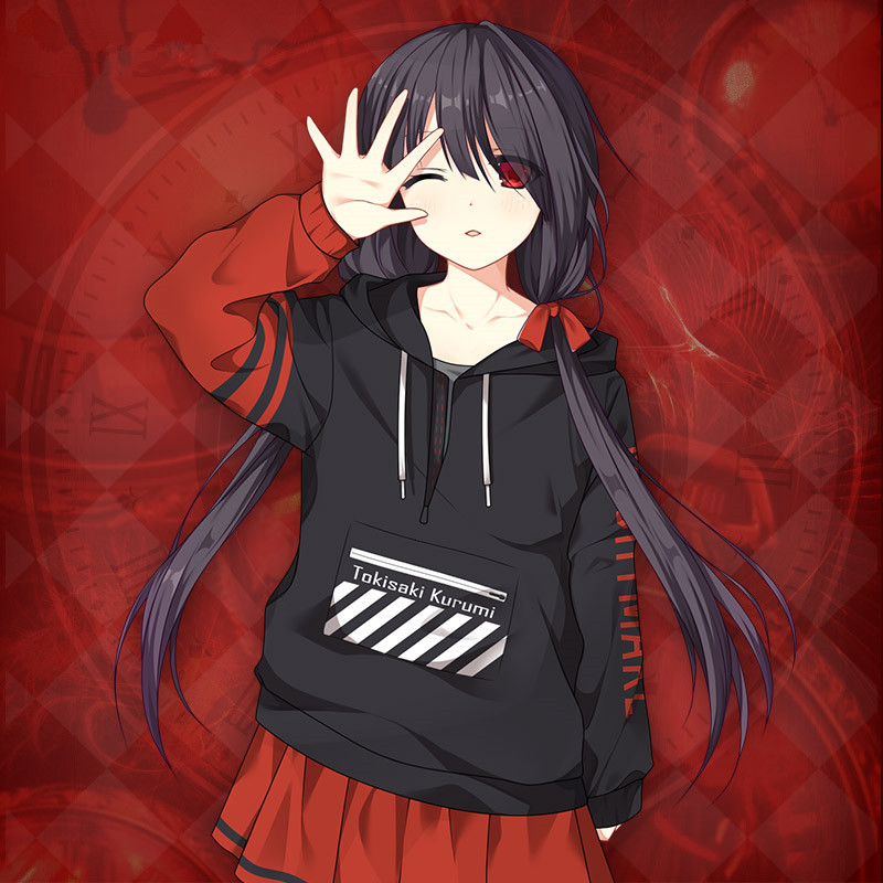 Cute Fashion Date A Live Nightmare Sweatshirts Casual Long Sleeve Coat Hoodies