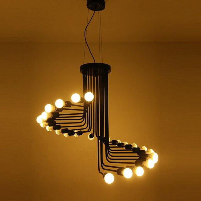 bae75e2d190 Vintage Iron spider Loft Industrial American Style Pulley Pendant Light  Adjustable Wire Lamp Retractable Bar light Edison Bulb