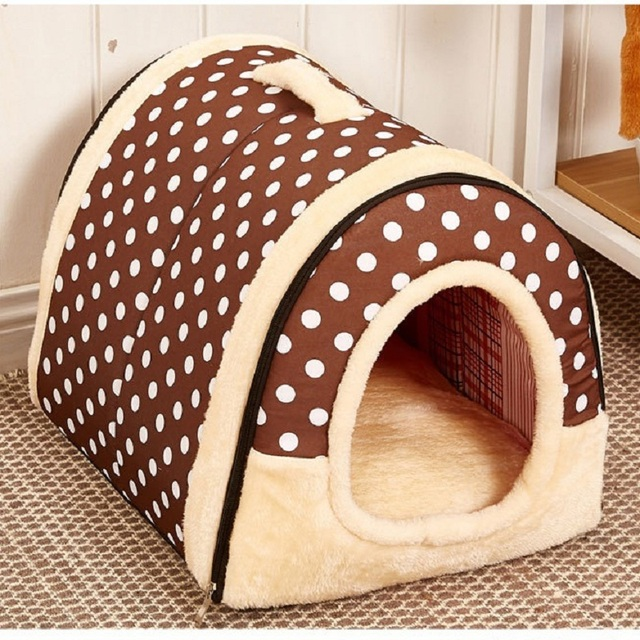Pet Dog House Nest With Mat Foldable Pet Dog Bed Cat Bed House For Small Medium Dogs Travel Kennels For Cats Pet Products 4