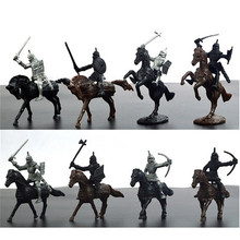 28pcs/set Knights Warrior Horses Medieval Toy Soldiers Figures Playset Mini Model Toys Gift Decor For Children Adult children s 28pcs set medieval knights warriors horses kids toy soldiers figures static model playset playing on sand castles