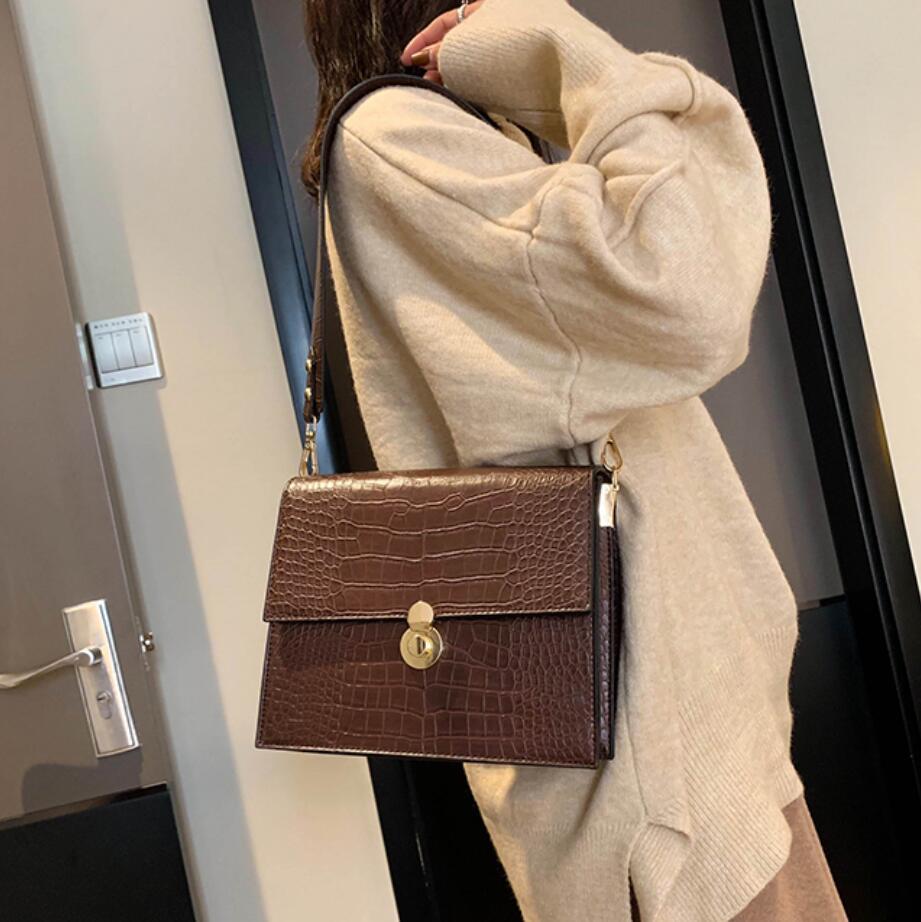 Vintage Fashion Female Tote bag 2019 New Quality PU Leather Women's Designer Handbag Crocodile Pattern Shoulder Messenger Bags 2