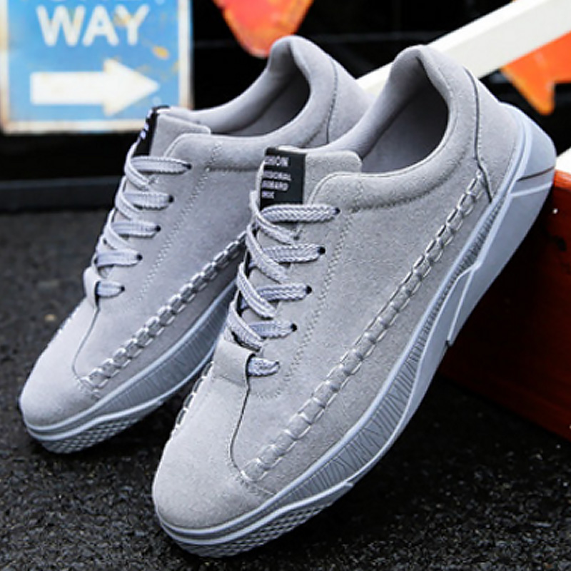 Men's Shoes Shoes 2019 New Mens Vulcanize Shoes Lace Solid Shallow Fashion Male Sneakers Cotton Fabric Comfortable Pu Man Shoes Sapatos Outdoor
