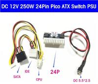 50p 100P DHL EMS Free DC 12V 160W Pico ATX 24PIN Switch PSU Car Auto Mini