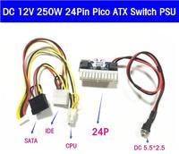 50p 100P DHL EMS Free DC 12V 160W Pico ATX 24PIN Switch PSU Car Auto Mini