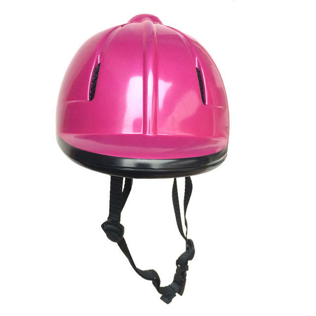 Children Half Covered Horse Riding Helmet Mauve  Equestrian Safety Helmet  Strenghtening Kids Horse Riding Helmet 48-54cm