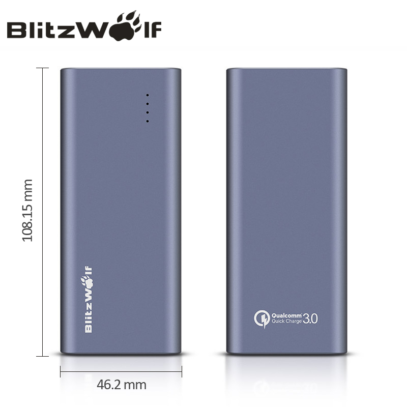 Banco do Poder blitzwolf bw-p4 qc3.0 quick charge Tipo : Emergencial / Portátil