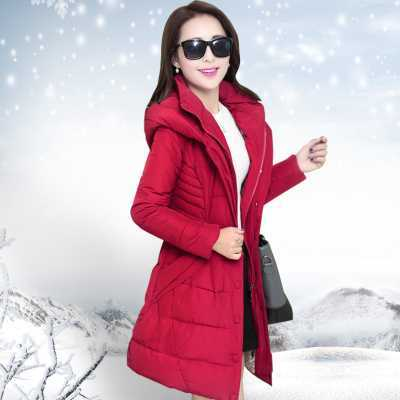 New Arrival Fashion Long Sleeves Slim Hooded Collar Single-Breasted Zippers Thickening Plus Size Cotton Wadded Women Coat H5811 new arrival fashion korean slim long sleeves hooded collar zippers thickening mid long cotton wadded overcoat women coat h5812