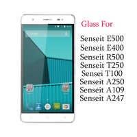 Para Senseit E400 de vidrio templado para Senseit E500 R500 T250 T100 A250 A109 A247 Protector de pantalla protectora de cristal 9 H 2.5D