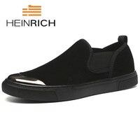 Генрих весна/осень Для мужчин обувь Лидер продаж повседневная, без шнуровки, холщовая обувь Для мужчин модные Лоферы Популярные Для мужчин