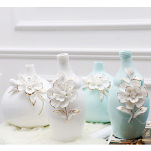 european fashion Ceramic Vase Creative White Flower Modern Decor Wedding Fashion Furnishing