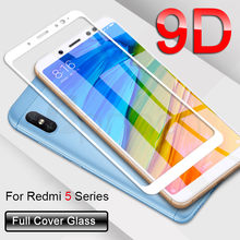 9D Protective Glass on the For Xiaomi Redmi Note 4 4X 5 5A Pro Redmi 5 Plus S2 4X 5A Tempered Screen Protector Glass Film Case(China)