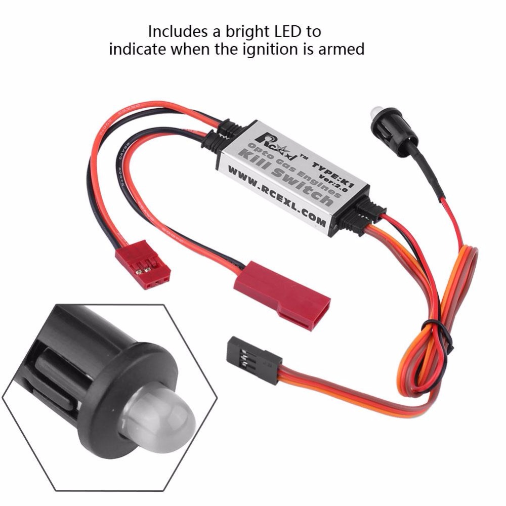 US $11 64 23% OFF|PCB K1 Opto Gas Engine Kill Switch V2 0 for DLA DLE DA  Ignition Cut Off PIC12F675 controller safety RC Part Accessory-in Parts &
