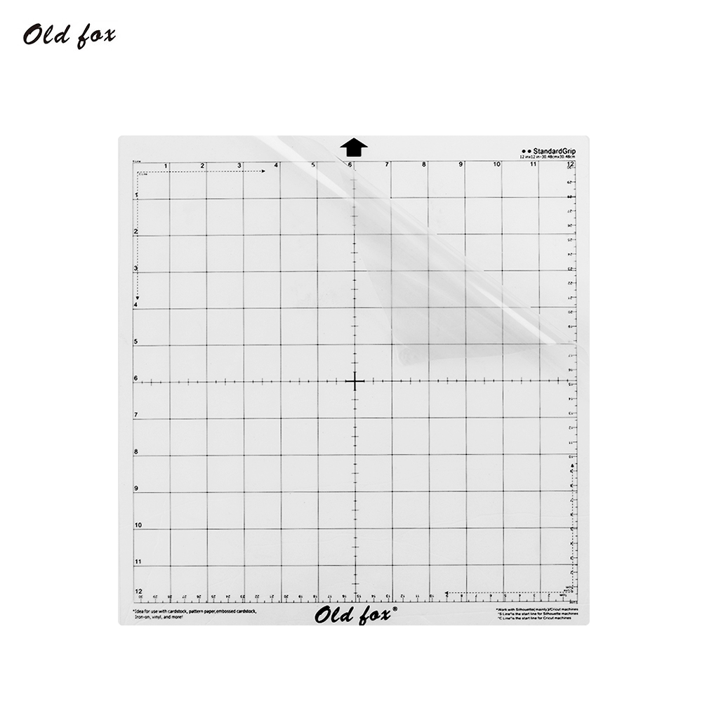 Replacement Cutting Mat Transparent Adhesive Mat with Measuring Grid 12 * 12 Inch for Silhouette Plotter Machine cutting mat