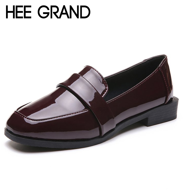 HEE GRAND Women Fashion Oxfords 2018 New Spring Pumps Women Causal Shoes Slip-on Shoes for Working Women XWD6520