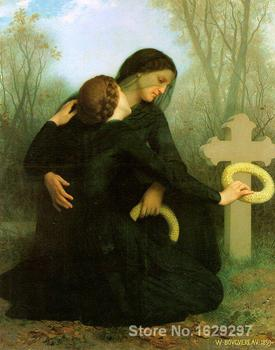 famous portrait painting All Saints Day by William Adolphe Bouguereau Hand painted High quality