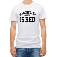 2017 New United Kingdom Red Letter Print T Shirt Men Cotton O Neck Manchester Tee Shirts