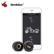 HEROBIKER Motorcycle Bluetooth Tire Pressure Monitoring System TPMS Mobile Phone APP Detection