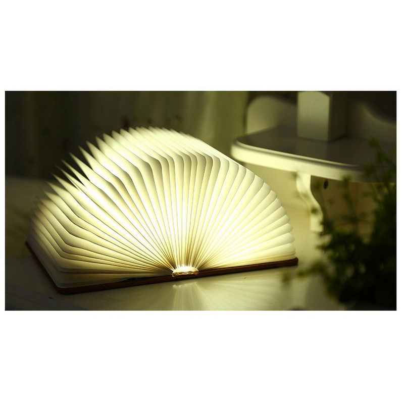 LED Book Light USB Charging Night Foldable PU Book Lamp Night Light Desk Lamp Four Color Switching For Home Decor
