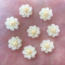 Novo 80 pçs resina 13mm 3d flor flatback pedra embelezamento diy scrapbook artesanato r922 * 2