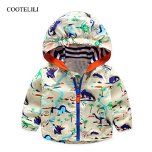 COOTELILI Baby Boy Autumn Clothes Cool Dinosaur Toddler Spring Children Active Outerwear & Coats For Girls 80-120cm
