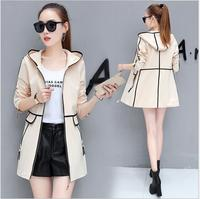 2017 Autumn And Winter New Jacket Women Windbreaker Korean Wild Fashion In The Long Section Of