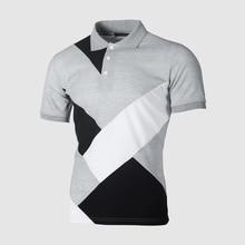 2019 fashion Patchwork Polo Shirt Men Summer Short Sleeve Slim Fit Streetwear Office Bussiness