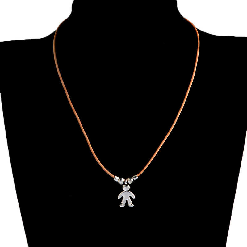 Cute One Two Three son and daughter Rope Chain Necklace for Boy and Girl Birthday Pendent Jewelry Gift New