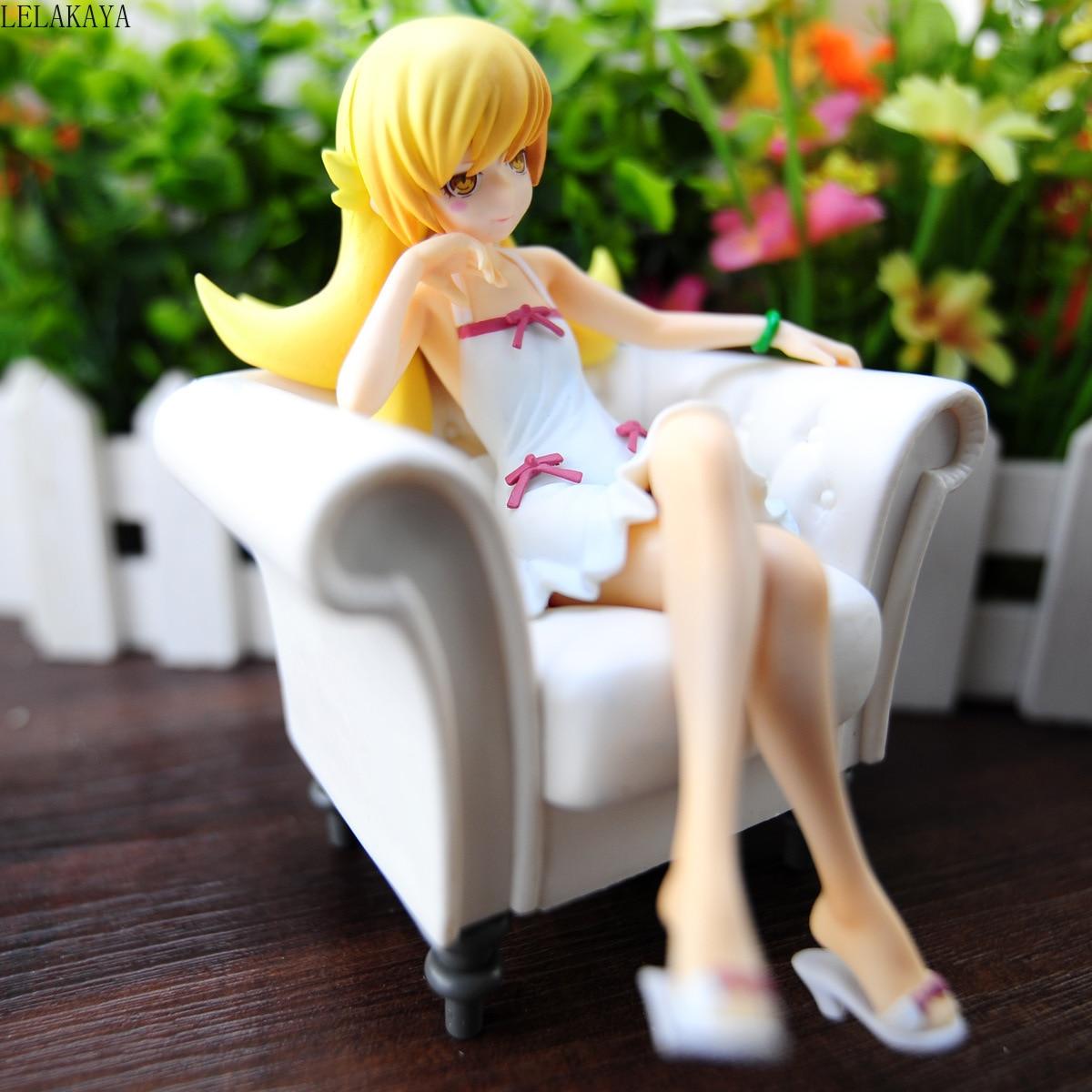 Toys & Hobbies Action Anime Figure Nisemonogatari Oshino Shinobu Sofa Ver Model 1/8 Scale Painted Model Pvc Collectible Decoration Doll 13cm Modern And Elegant In Fashion