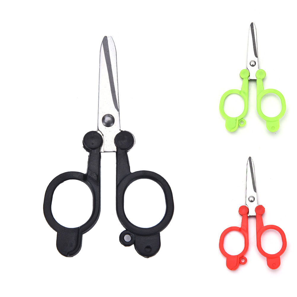 1pcMulticolor Useful Trimming Scissors Nippers ClippersSewing Embroidery Yarn Stainless Steel Folding Small Scissors110*60*1.3mm