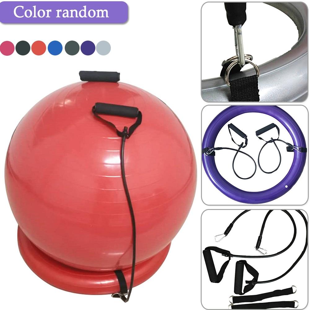 Pvc Yoga Ball Base Set With Handle Explosion Proof Yoga Ball Fixed Base Exercise Gym Ball Sport Fitball Proof Random Color Yoga Balls Aliexpress