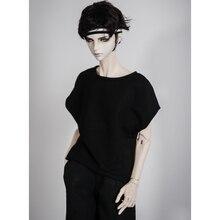 """BJD черная футболка наряды топ одежда для мужчин 1/4 1/3 SD17 70 см 17 """"24"""" высокий BJD кукла MSD SD DK DZ AOD DD кукла"""