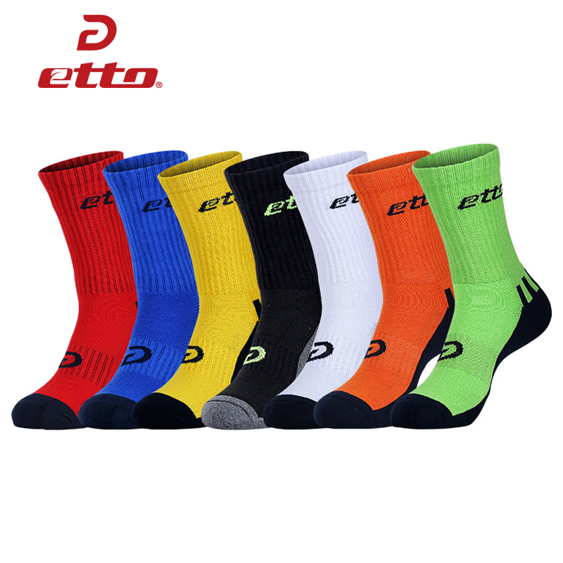 Etto Quality Men Thickened Towel Anti Slip Soccer Socks Women Breathable Deodorant Football Sox Cotton Sports Socks HEQ102