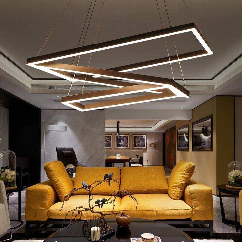 Light Filled Contemporary Living Rooms: Creative Modern Chandelier Simple Personality Led