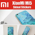 skinat original 3M material no glue ultra thin battery cover stickers for xiaomi mi5 ROHS SGS 23 colors