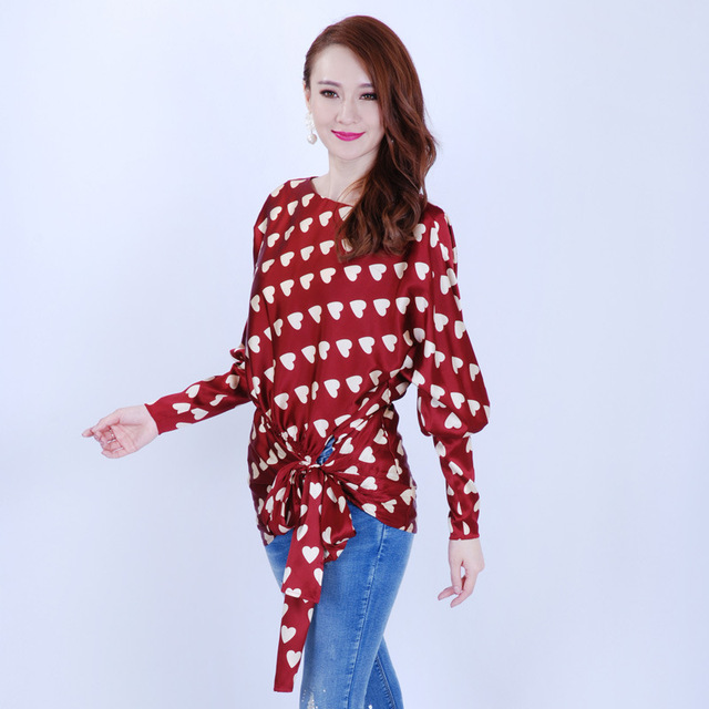 Womens Chiffon Blouse Printing Tropical Casual Long-Sleeve Blouse New Summer Hot Sale Plus Size Blusas Femininas Free Shipping