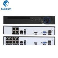 H.265 ONVIF 4CH 8CH 4MP HDMI CCTV 48V POE NVR P2P Motion Detection FTP IEEE802.3af DC 48V Input CCTV NVR For POE IP Camera
