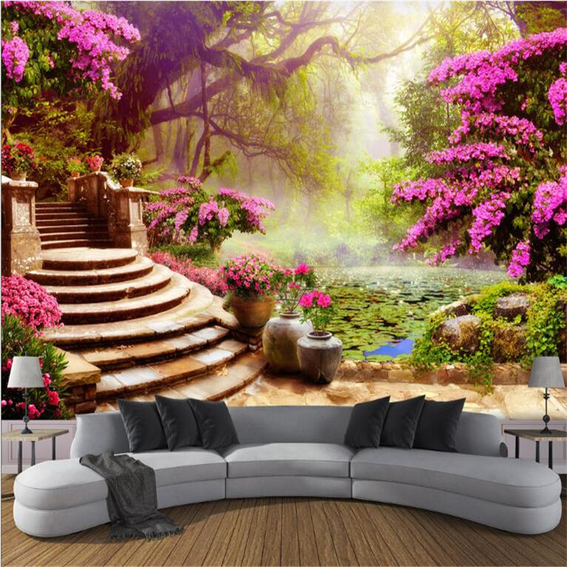 Forest Wallpaper for Walls Custom Modern 3 d Photo Wallpaper 3 d Living Bedroom Sofa TV Background Garden Wall Murals Home Decor large murals non woven beauty flowers porch corridor sand background wallpaper 3 d wallpaper papeles pintados