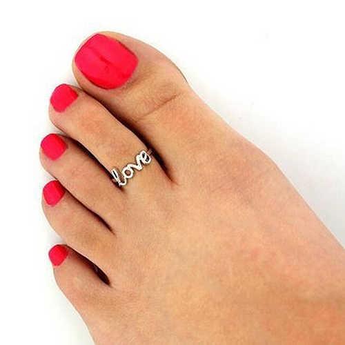 Moda mujer Simple hueco amor dedo ajustable dedo del pie anillo abierto playa joyería anillos de acero inoxidable para mujer anillo de compromiso