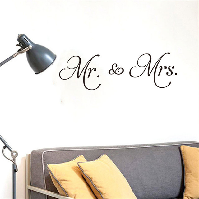 Wallpaper MrMrs Love Letter DIY Wall Stickers Home Room Decor Drop Removable Decal Shipping New