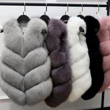 Faux fur vest women