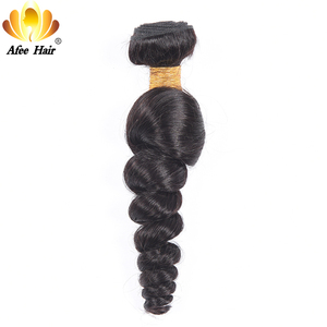 AliAfee Hair Brazilian loose Wave Weave 1 Bundle Deals 8-28 Inch Brazilian Hair 100% Human Hair Extensions 1B Non remy Hair(China)