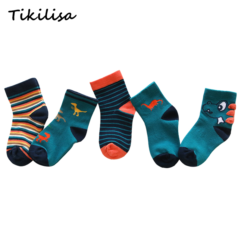 5 Pairs Cotton Socks Autumn Winter Soft Cartoon For Lovely Cute Socks Girls Children Kids Socks Toddler Boys Fashion Sport Socks