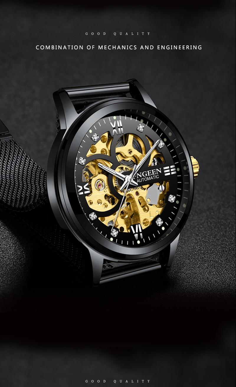 HTB1lqVSvmMmBKNjSZTEq6ysKpXah Skeleton Watch 2019 New FNGEEN Sport Mechanical Watch Luxury Watch Mens Watches Top Brand Montre Homme Clock Men Automatic Watch