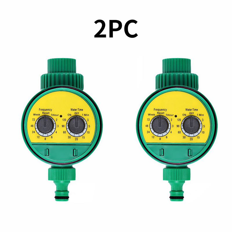 2pcs Automatic Garden Watering Timer  Ball Valve Controller System With Electronic LCD Display Home Garden Irrigation Controller