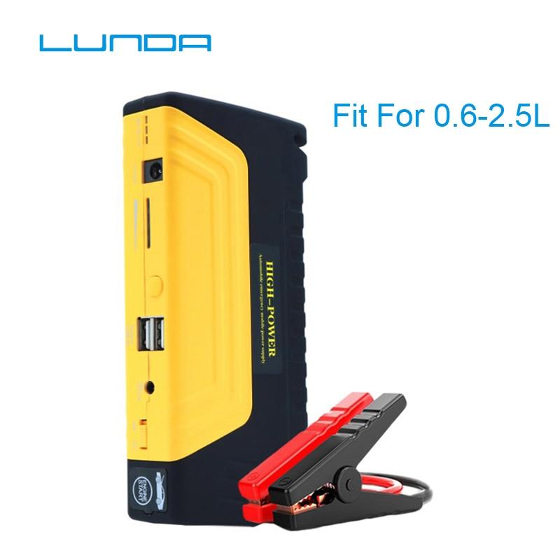 LUNDA Car Jump Portable Car JumpStarter 12V Car Engine Emergency Battery Fast Charge,High power mobile power supply цена