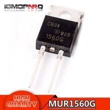 20pcs free shipping MUR1560G MUR1560 1560G 600V 15A diode rectifier 100% new original quality assurance
