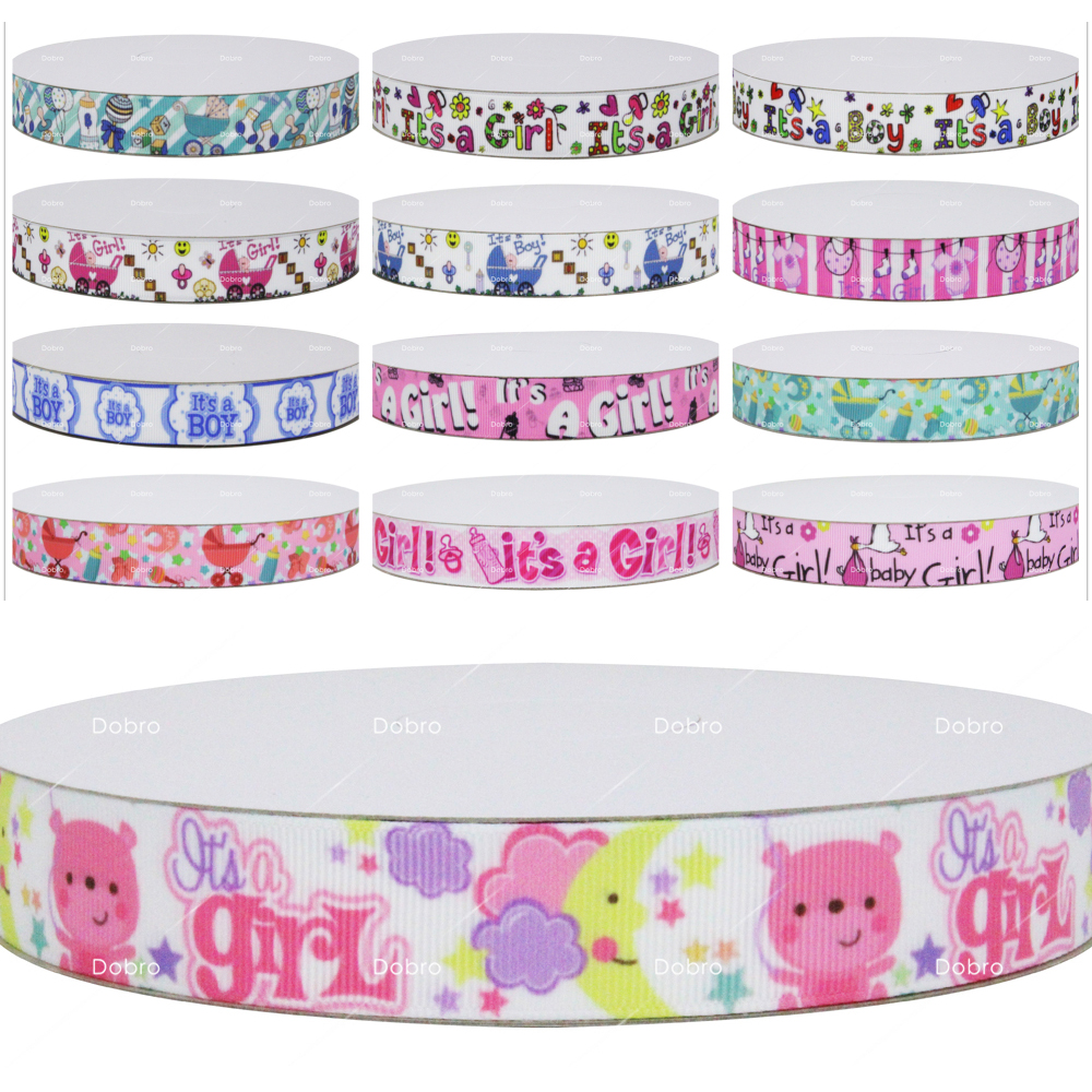 "Grosgrain Baby Foot Print Baby Shower Ribbon 7//8/"" 22mm **DIFFERENT COLOURS**"