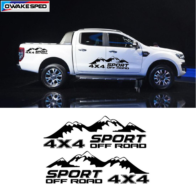 4X4 Off Road >> Us 12 04 10 Off Sport Pick Up Truck Decor Vinyl Decal Off Road 4x4 Mountain Graphics Sticker Car Styling Auto Body Door Side Customized Sticker In